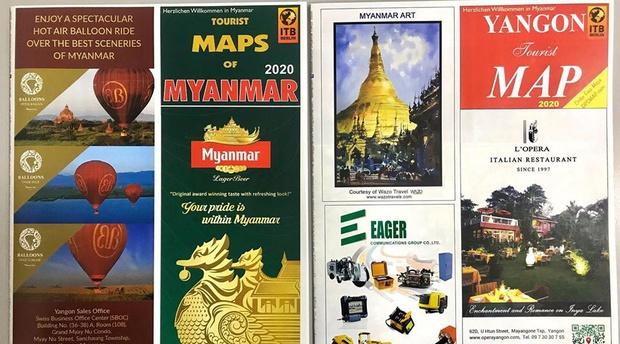 Maps, DPS Myanmar, Wazo , Paintings, Art